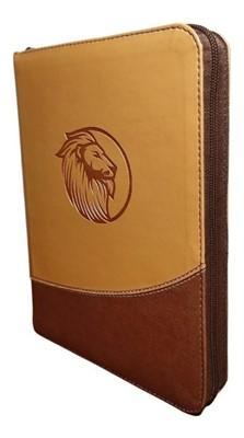 RVR 1960 Biblia Letra Gigante (Imitación piel, color 2 tonos café, zíper)