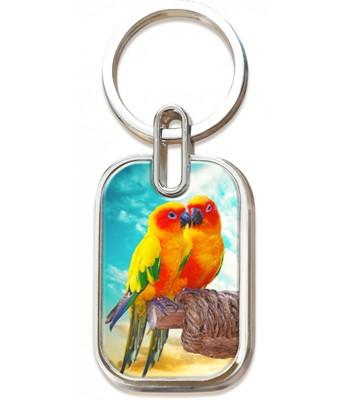 Llavero Metálico En 3D Aves Pareja - Prats (Metálico)