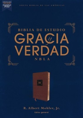 NBLA Biblia De Estudio Gracia y Verdad (Imitación Piel Marrón)