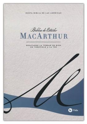 NBLA Biblia De Estudio MacArthur (Tapa Dura Azul)