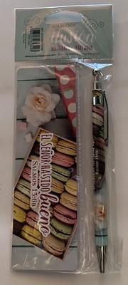 Bolígrafo y Separador (Cartón Plastificado)