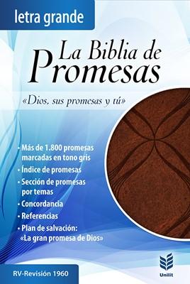 RVR 1960 Biblia de Promesas Letra Grande (Piel especial, Café)