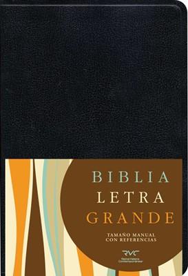 RVC Biblia Letra Grande - tamaño manual (Imitación Piel negra) [Biblia]