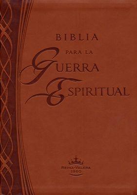 RVR 1960 Biblia de Estudio Para La Guerra Espiritual (Piel Chocolate)