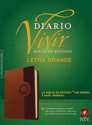 Biblia de Estudio del Diario Vivir NTV, Letra Grande (SentiPiel Café/Café claro) [Biblia de Estudio]