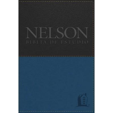Biblia De Estudio Nelson (Piel Italiana) [Biblia]