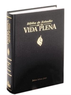 Biblia de Estudio Vida Plena RVR60 (Piel Negro)