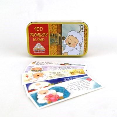 Caja de Promesas de Oro / Metal (Cajita Metálica )