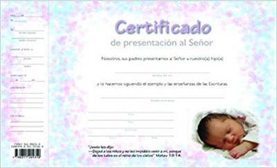 Certificado de Dedicación de Niños (Cartón)
