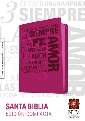 Biblia NTV Compacta 1 Corintios 13 Rosa (Imitación piel color Rosa)