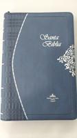 Biblia Ultrafina Azul Con Cierre