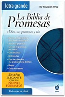 Biblia de Promesas Letra Grande (Piel Especial Azul) [Biblia]