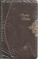 RVR 1960 Biblia Borgona con Ziper (Pasta flexible con Ziper Chocolate)
