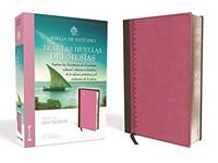 RVR 1960 Biblia De Estudio Tras Las Huellas Del Mesías (Imitación Piel Rosa)