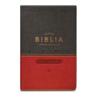 Biblia RVR con Índice Letra Grande (Imitación Piel Duotono Gris/Rojo) [Biblia]