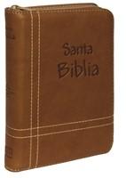 Biblia RVR Letra Grande con Ziper (Acolchada Cafe ) [Biblia]