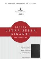 Biblia Letra Súper Gigante con Referencias (Piel fabricada negra) [Biblia]