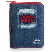 Biblia RVR Jean con Zipper rojo