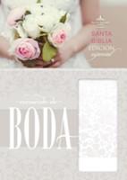 RVR 1960 Biblia Recuerdo Boda (Símil piel, Blanco Floral)