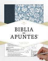 Biblia de Apuntes RVR 1960 (azul)