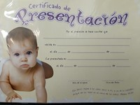 Certificado Para Niñas De Peniel