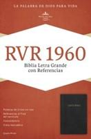 Rvr 1960 Biblia Letra Gigante Con Referencias. Negro Imitacion Piel