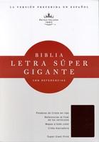 Rvr 1960 Biblia Letra Super Gigante. Negro Imitacion Piel
