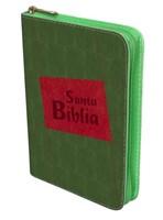 Biblia manual troquelada verde, vinilo