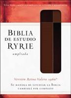 Biblia de estudio Ryrie ampliada (Senti piel dos tonos marrón)