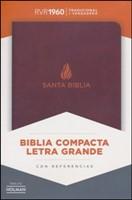 RVR 1960 Biblia Compacta Letra Grande con Índice (Piel fabricada marrón)