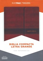 RVR 1960 Biblia Compacta Letra Grande (Leather Binding)