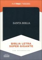 RVR 1960 Biblia Letra Súper Gigante con Índice (Piel fabricada, negro)