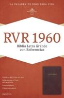 RVR 1960 Biblia Letra Grande con Referencias (Tapa imitación piel borgoña)