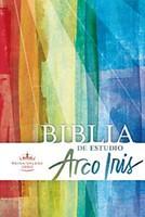Biblia de Estudio Arco Iris Multicolor con Índice (Símil piel multicolor)