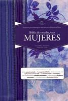 Biblia de Estudio Para Mujeres (Imitación piel Azul floreado)