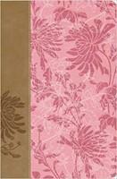 RVR 1960 Biblia de Estudio para la Mujer Piel (Tapa piel rosada con diseño)