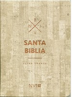 NVI Biblia Mediana Letra Grande Madera
