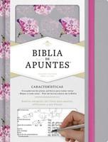 RVR 1960 Biblia de Apuntes Gris Floreada