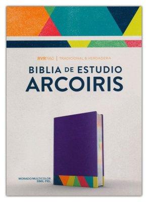 RV1960 Biblia De Estudio Arcoíris Multicolor